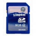 Kingston SD4/8GB 8GB SDHC Class 4 Secure Digital Flash Memory Card